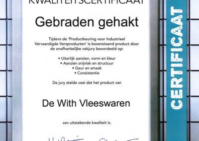 Certificaat-Gebradengehakt