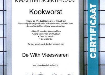 Certificaat-Kookworst
