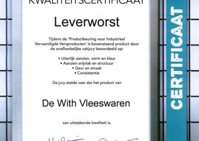 Certificaat-Leverworst