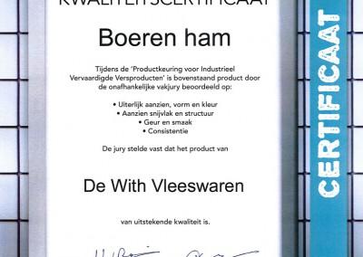 Certificaat-boerenham