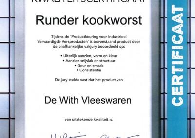 Certificaat-runderkookworst