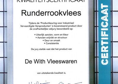 Certificaat-rundrookvlees