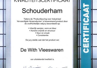 Certificaat-schouderham